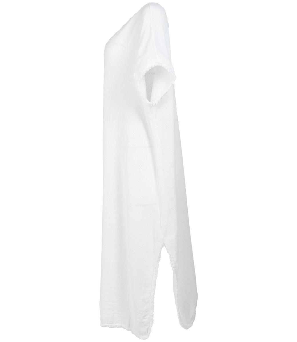 Wannahavesfashion jurk wit linnen Pat