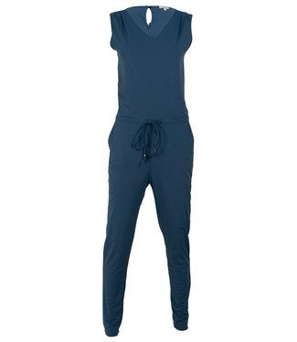 Vera Jo Jumpsuit jeansblauw travelstof Marjo