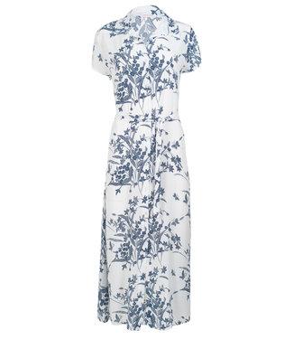 Gemma Ricceri Jurk wit/blauw Mandy