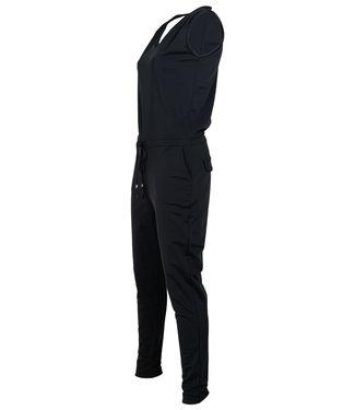 Vera Jo Jumpsuit zwart travelstof