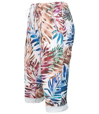 Gemma Ricceri Korte broek wit/blauw Palm
