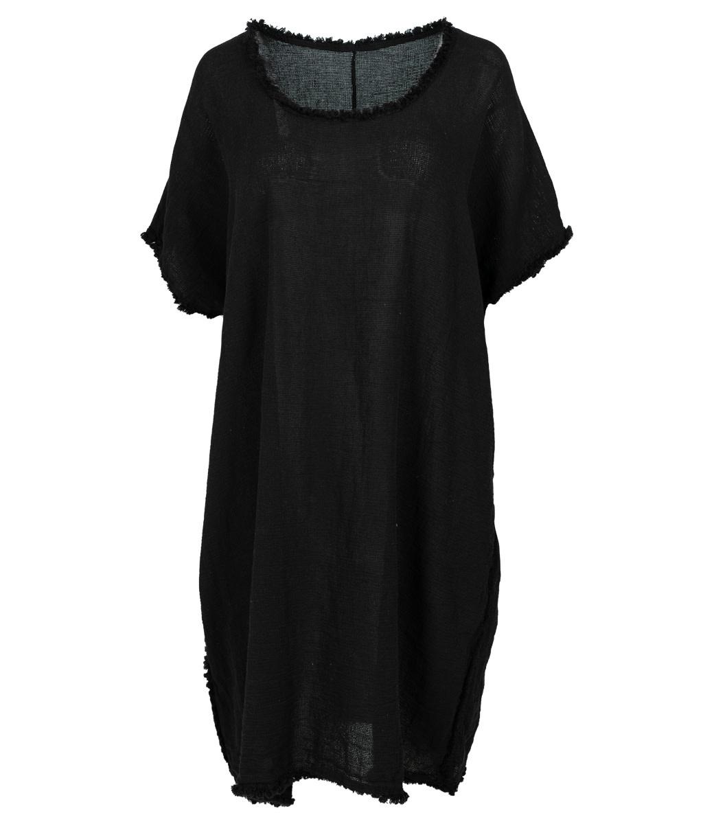 Wannahavesfashion Jurk zwart linnen Demi