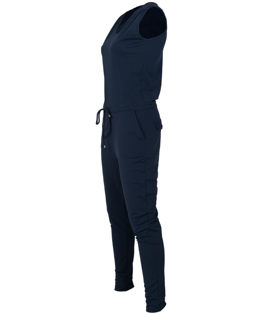 Vera Jo Jumpsuit donkerblauw travelstof Marjo