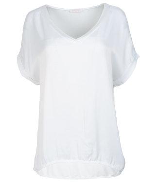 Gemma Ricceri Shirt wit silk touch v hals