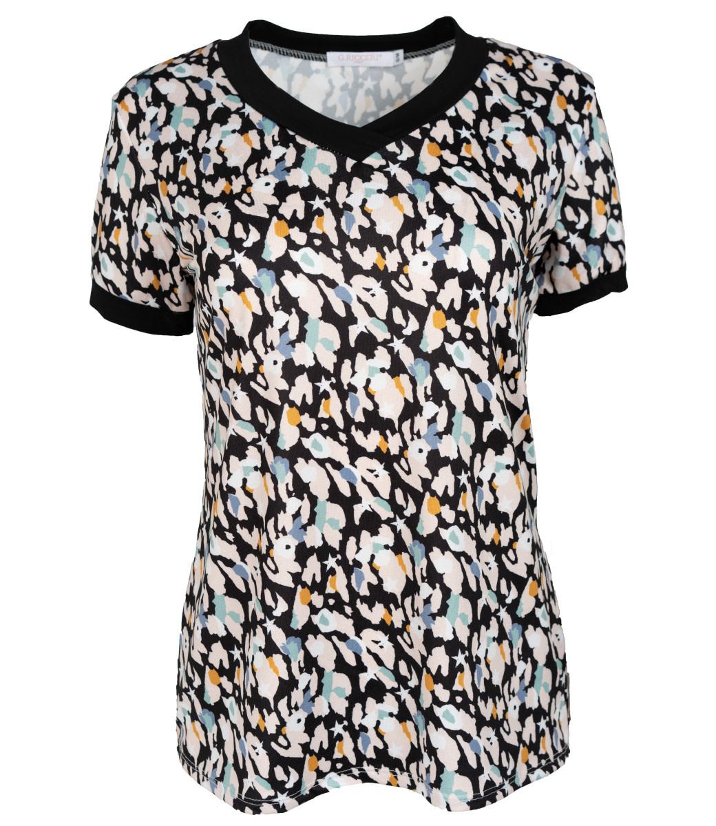 Gemma Ricceri Shirt zwart Sandra
