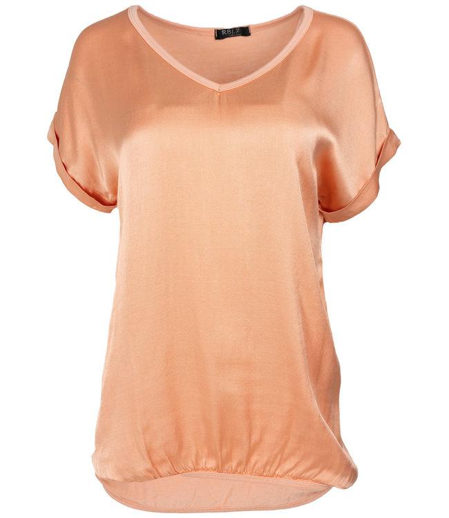 Rebelz Collection Shirt peach Anna v hals