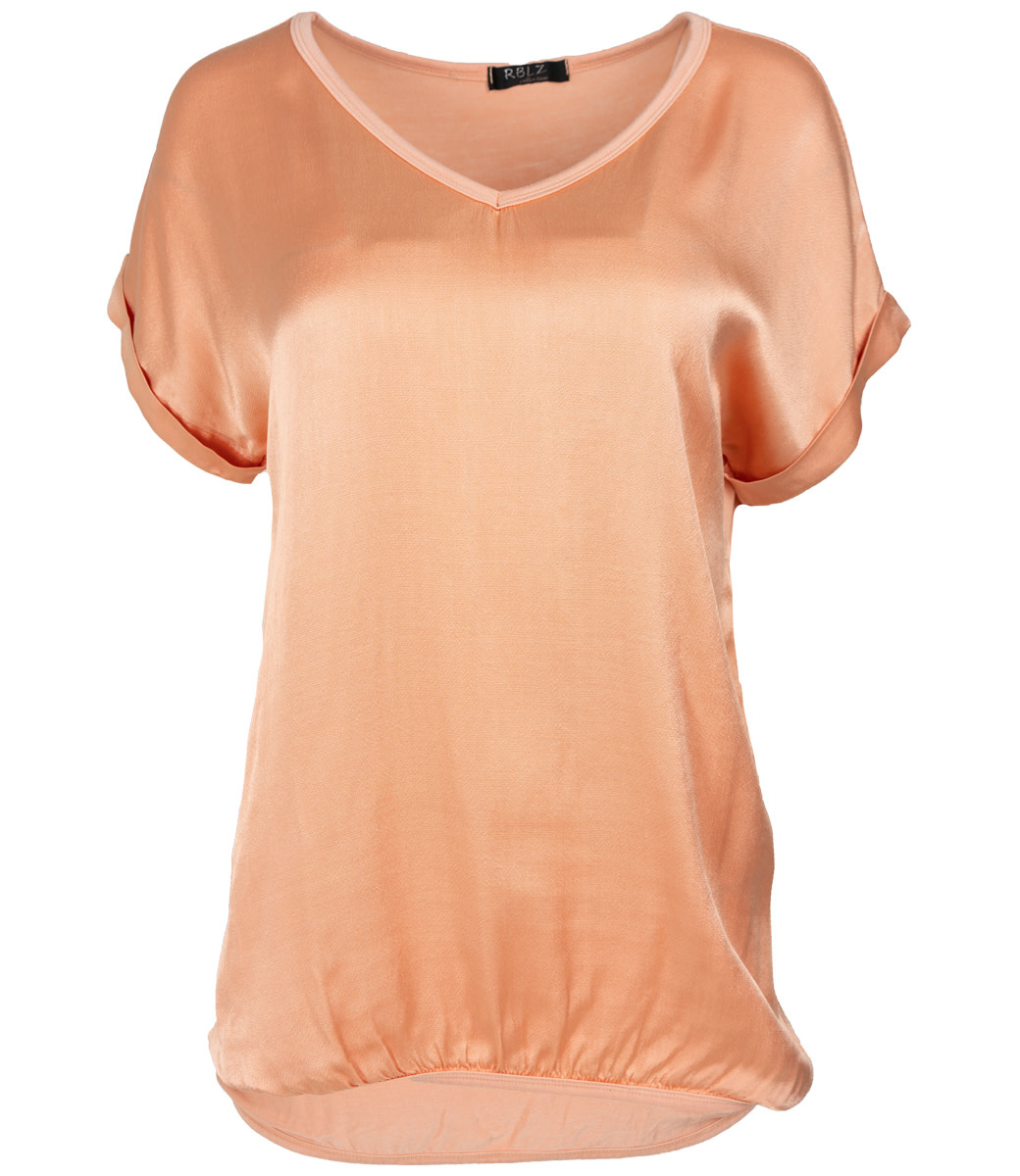 Rebelz Collection Shirt peach Anna v hals