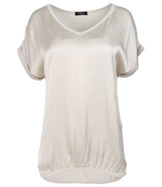 Rebelz Collection Shirt beige Anna v hals