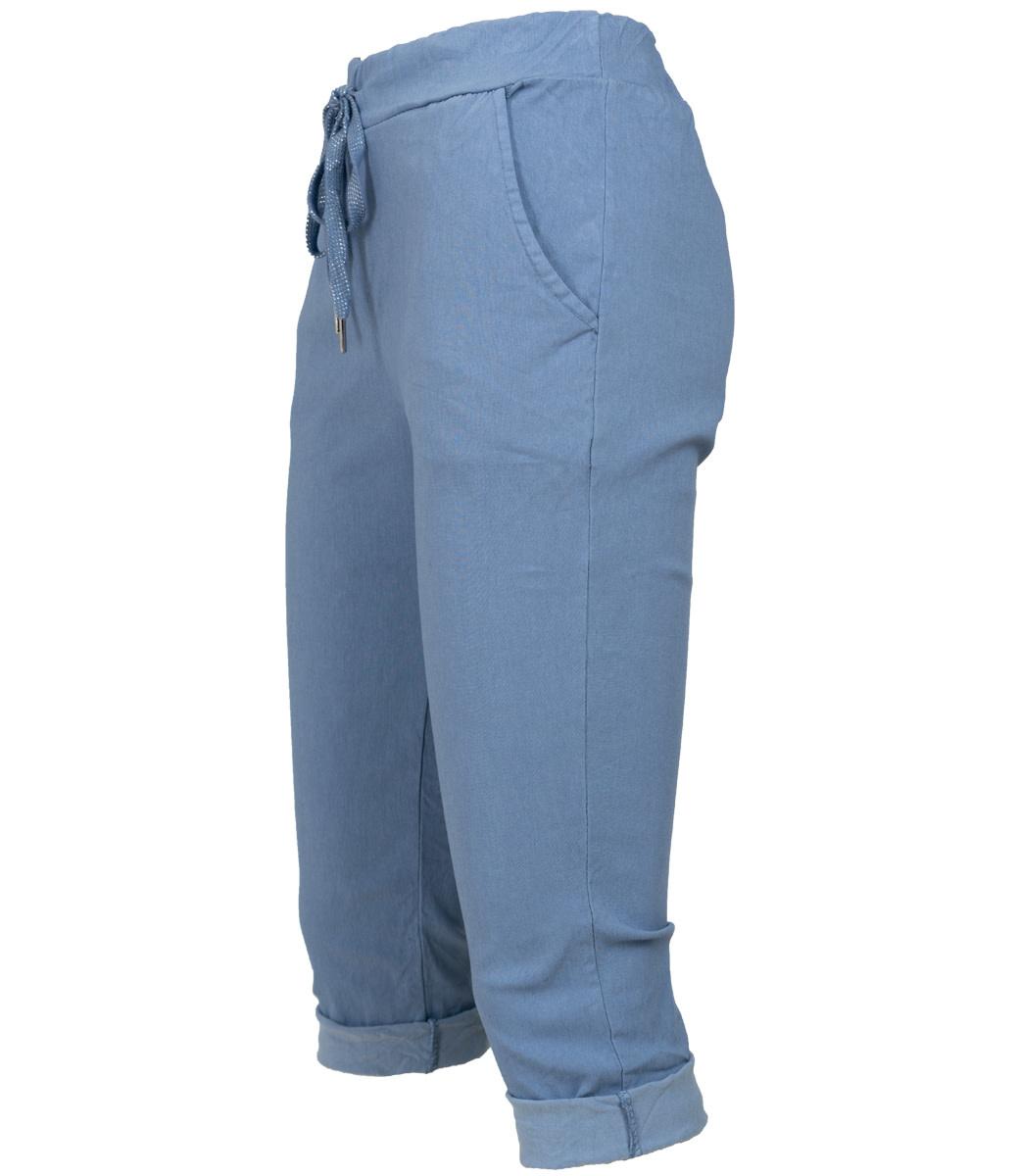 Wannahavesfashion Capri jeansblauw Cor