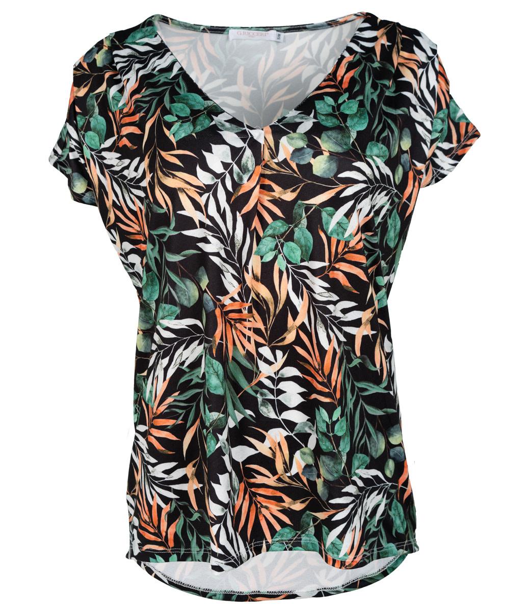 Gemma Ricceri Shirt zwart print Bea