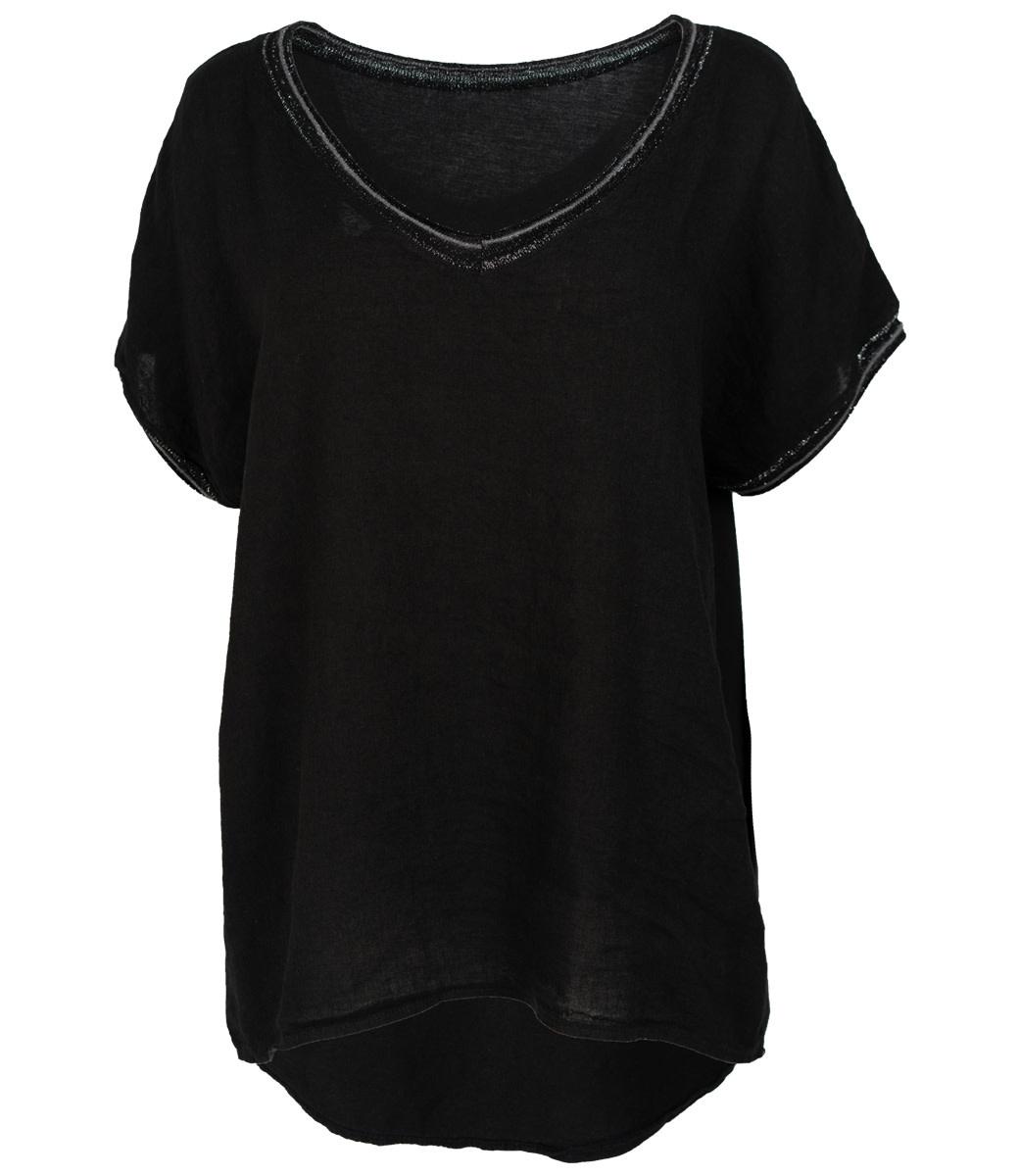 Wannahavesfashion Shirt zwart Bea