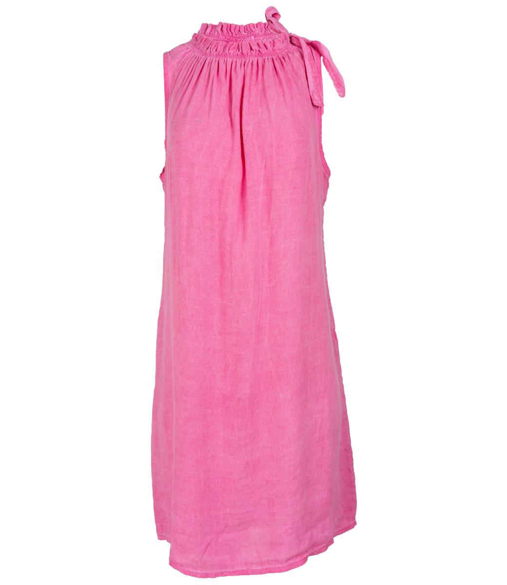 Wannahavesfashion Jurk roze halter linnen