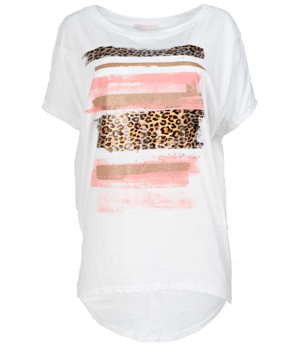Gemma Ricceri Shirt wit/roze Chloe