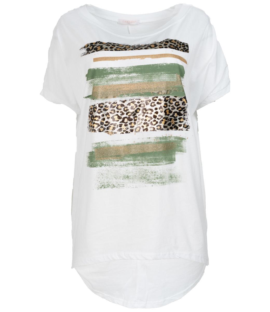 Gemma Ricceri Shirt wit/groen Chloe