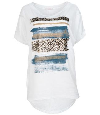 Gemma Ricceri Shirt wit/blauw Chloe