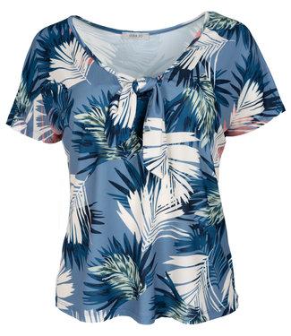 Gemma Ricceri Shirt blauw print Sonja
