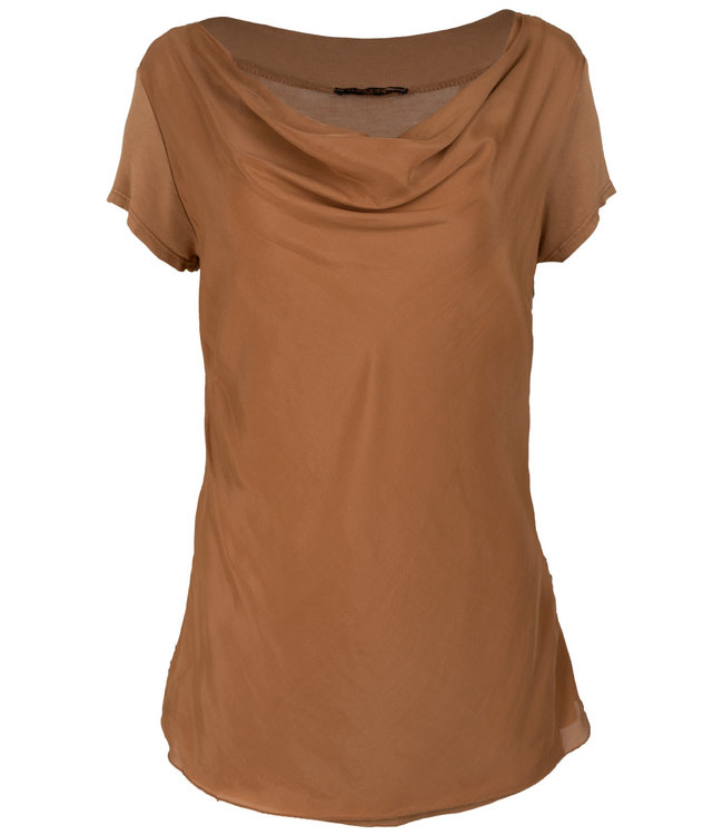 Gemma Ricceri Shirt camel Waterfall Loes