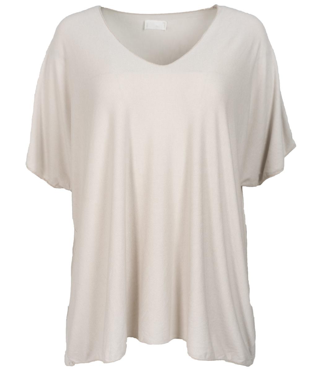 Wannahavesfashion Shirt beige v hals Lilly