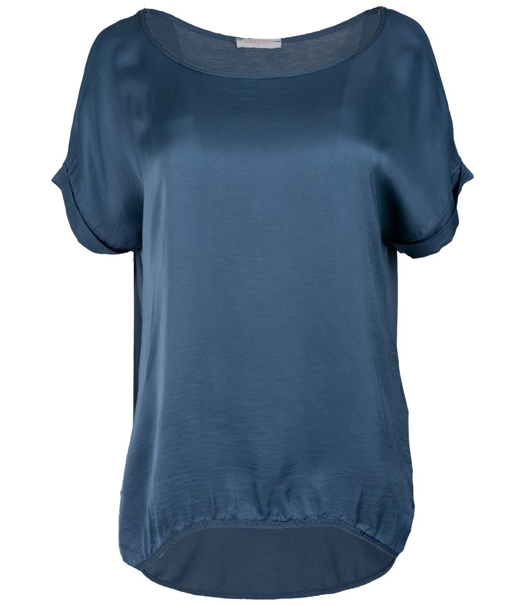 Gemma Ricceri Shirt jeansblauw silk touch