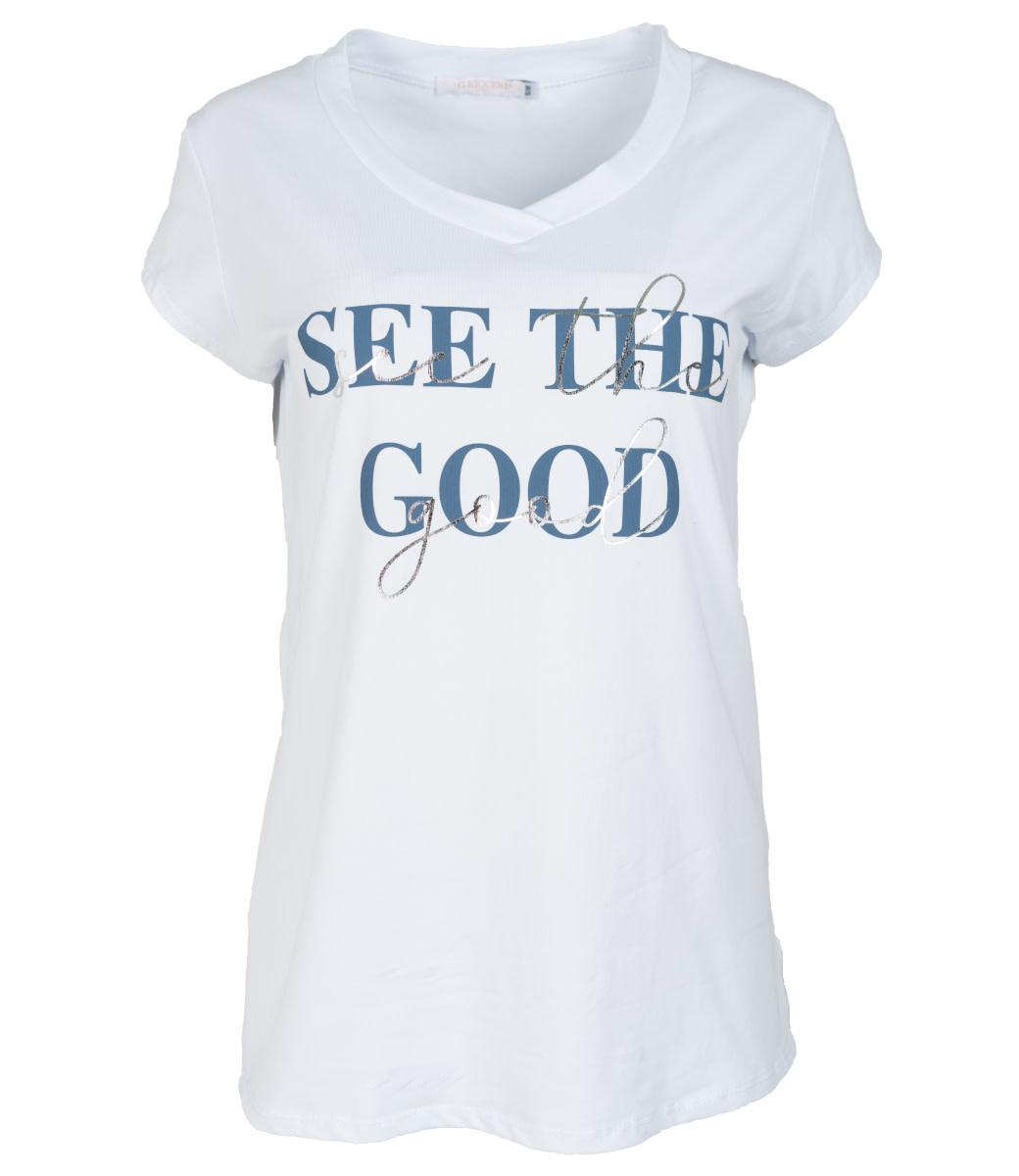 Gemma Ricceri Shirt wit/blauw See the good