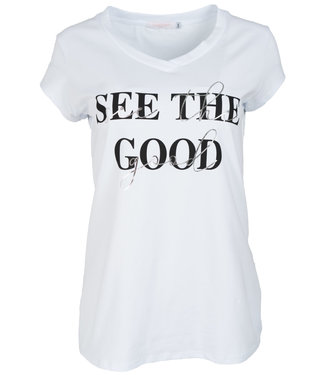 Gemma Ricceri Shirt wit/zwart See the good