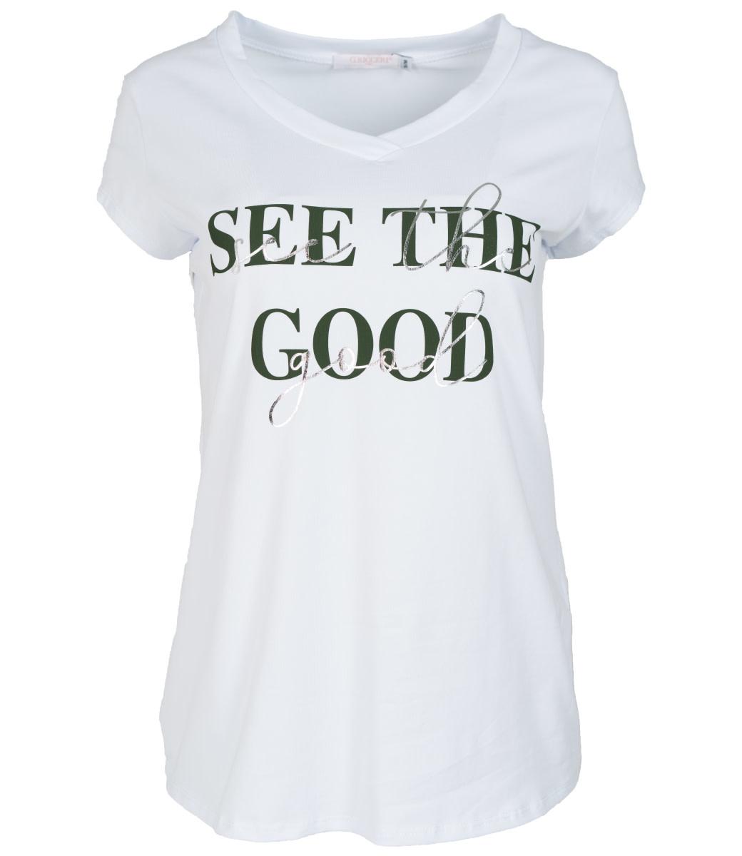 Gemma Ricceri Shirt wit/groen See the good