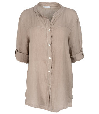 Wannahavesfashion Blouse beige linnen Rosa