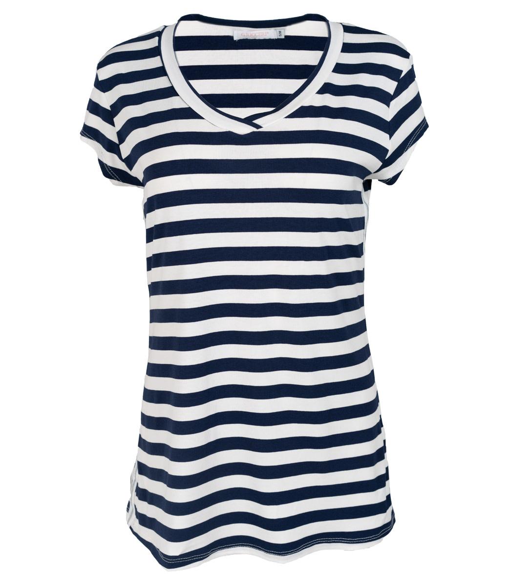 Gemma Ricceri Shirt blauw/wit streep Pia