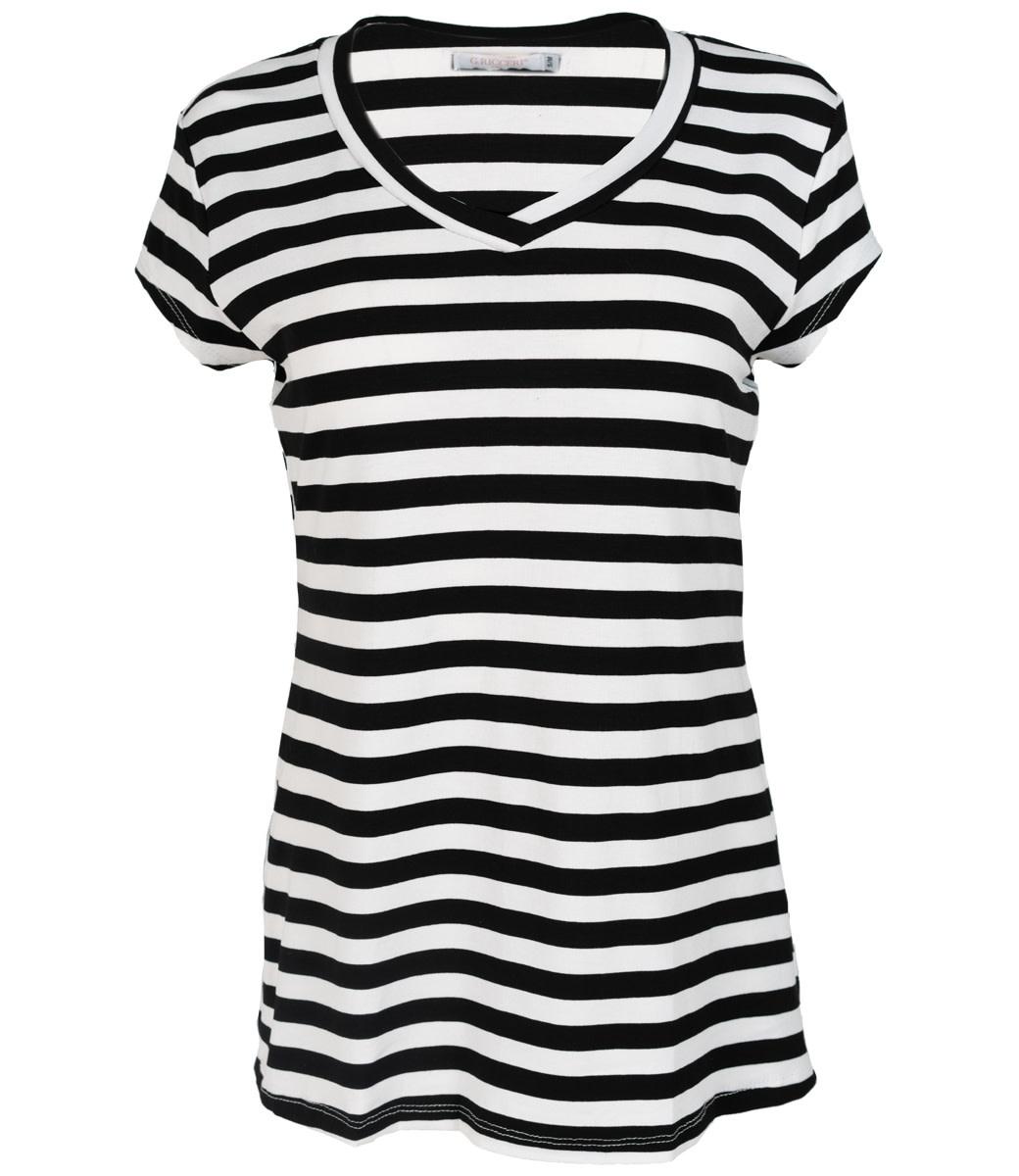 Gemma Ricceri Shirt zwart/wit streep Pia