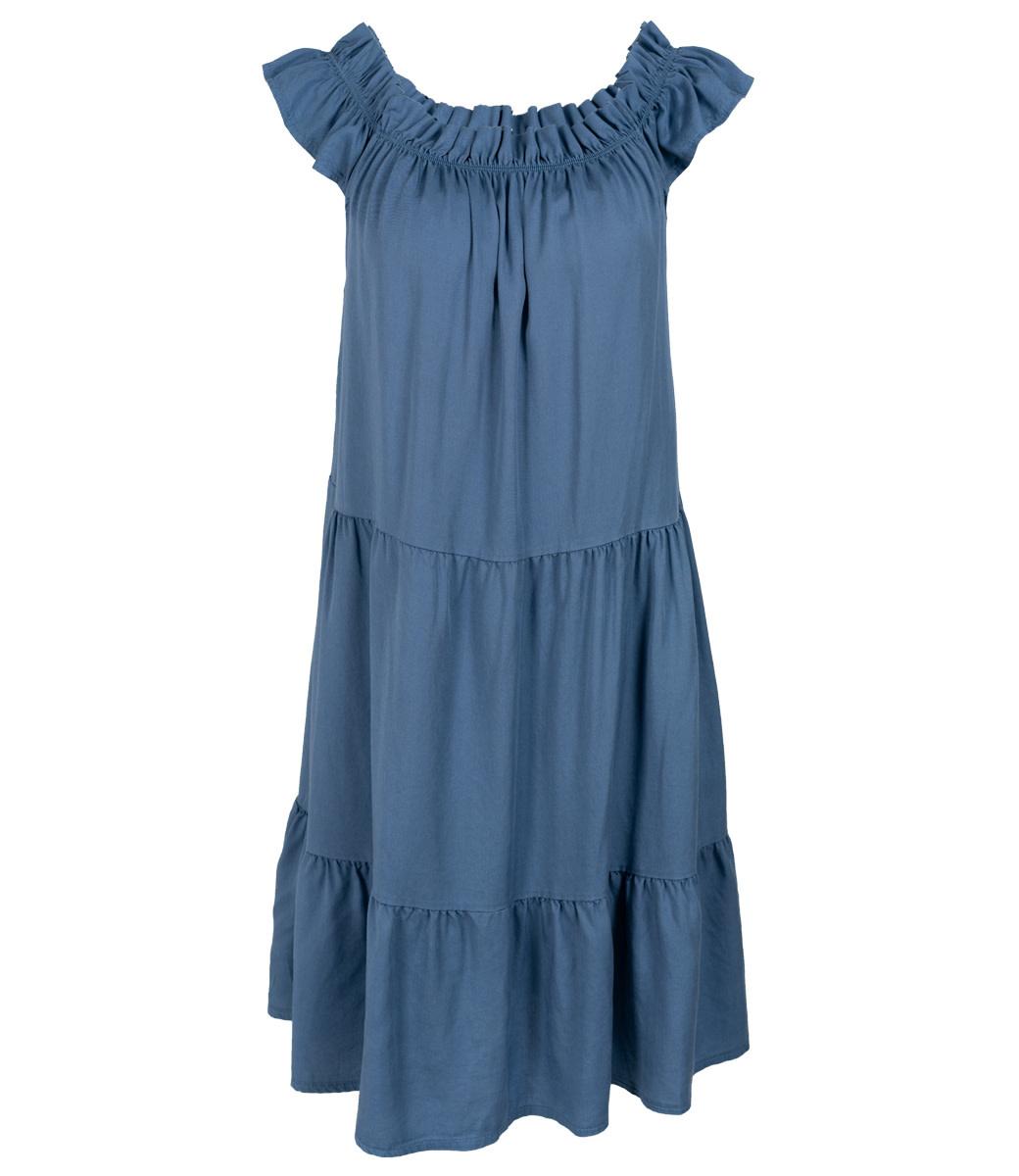Wannahavesfashion Jurk jeansblauw Petra