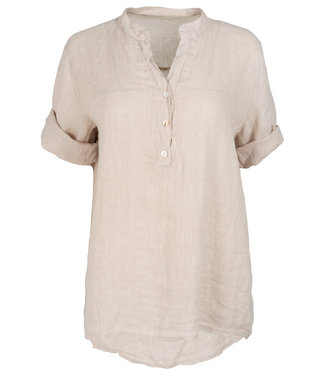 Wannahavesfashion Blouse beige linnen Kitty