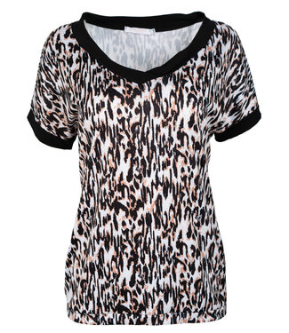Gemma Ricceri Shirt zwart/camel Sakina