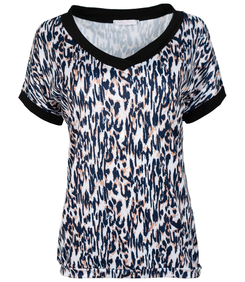 Gemma Ricceri Shirt blauw/camel Sakina