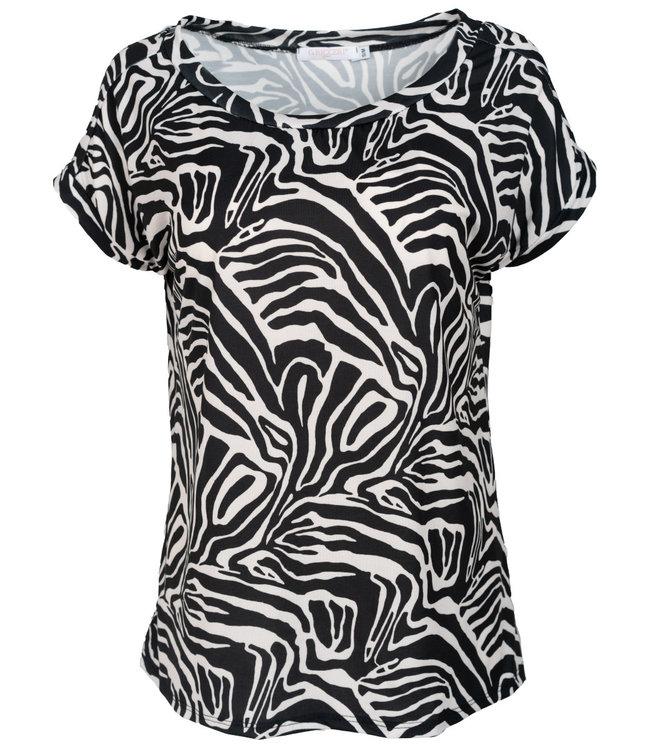 Gemma Ricceri Shirt zwart/wit print Nina