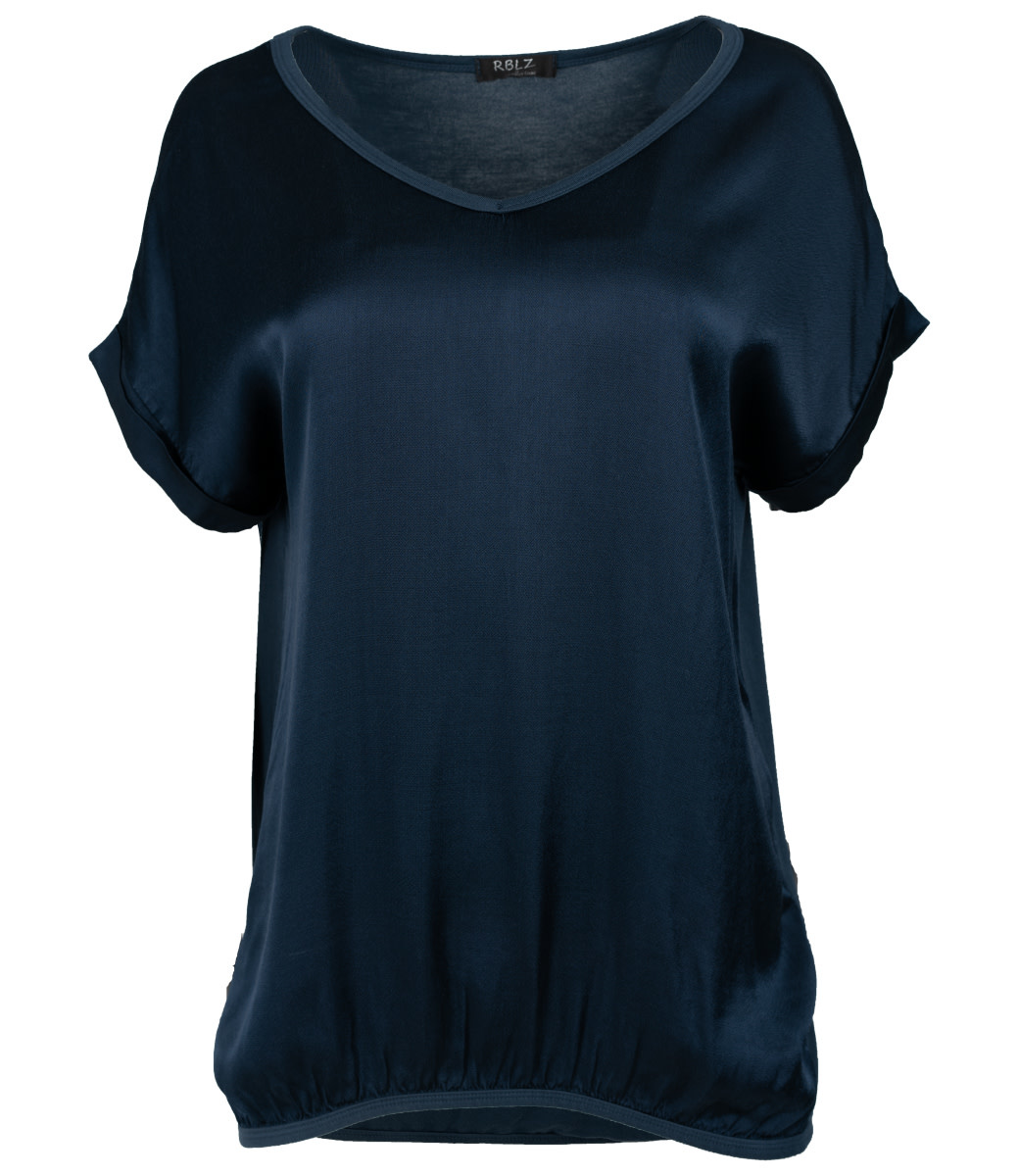 Rebelz Collection Shirt donkerblauw Anna v hals