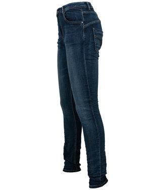 place du Jour Jog jeans dark used rits