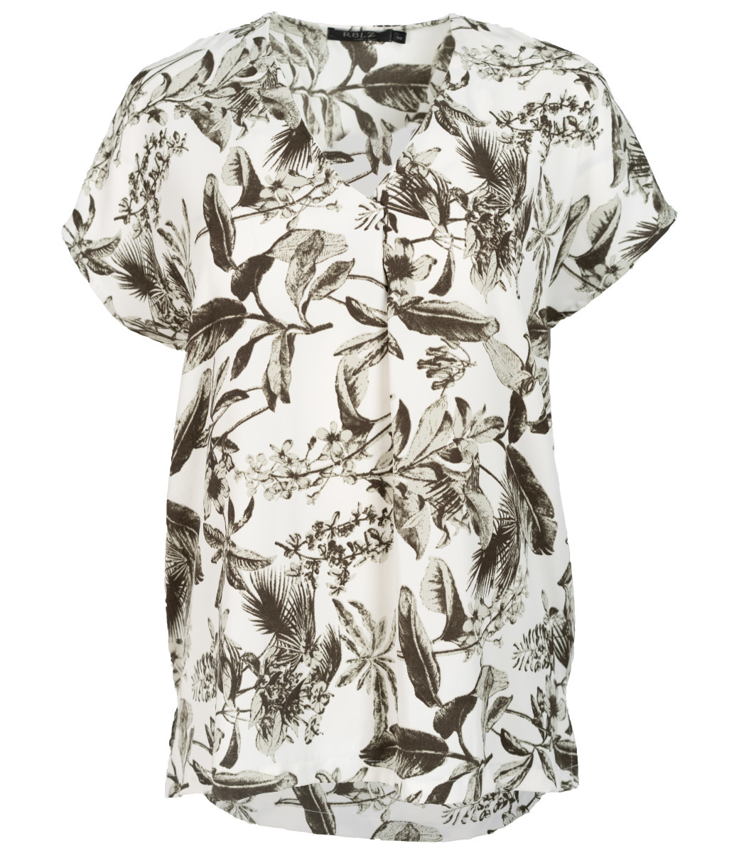 Rebelz Collection Shirt wit/groen Marie
