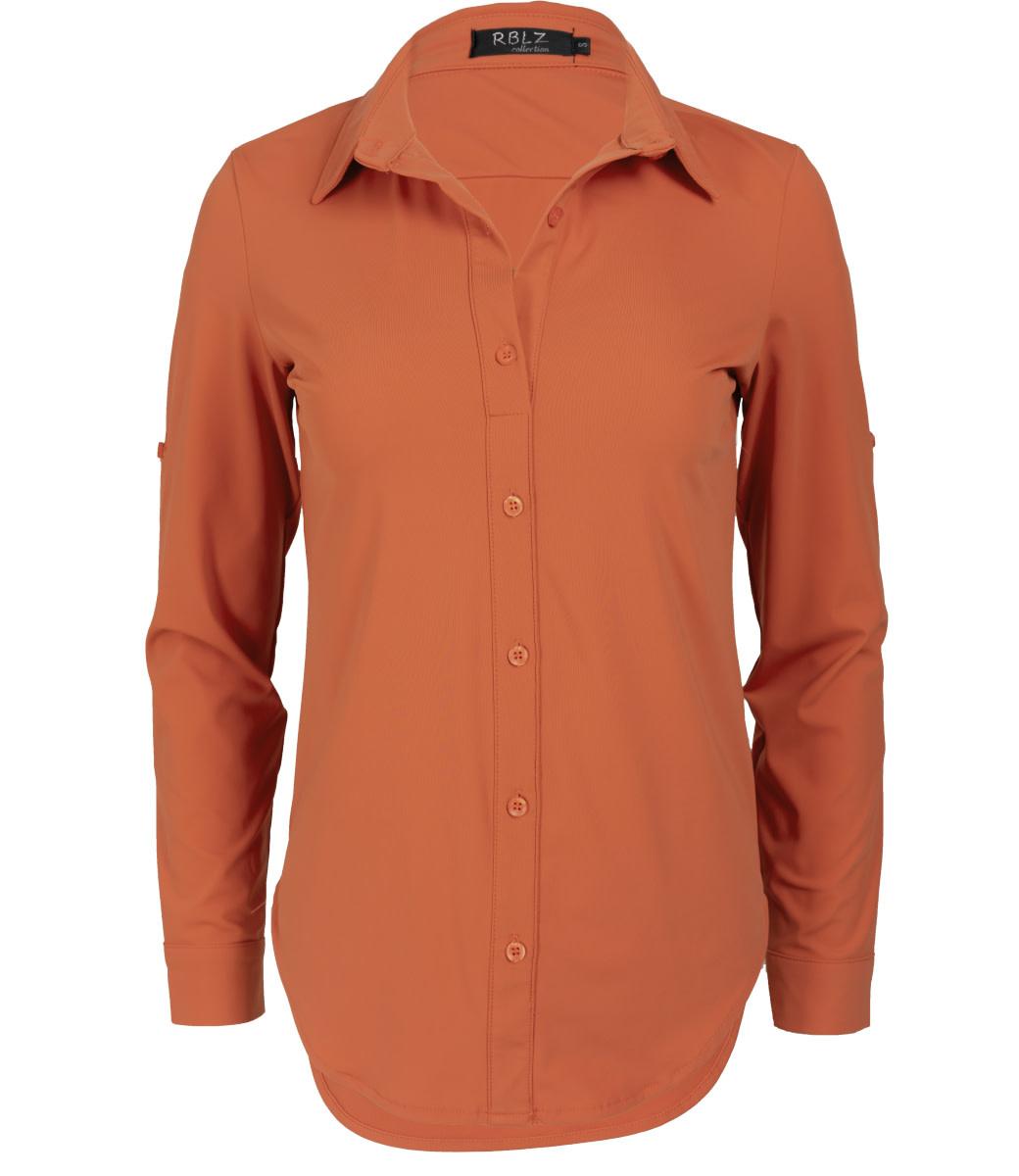 Rebelz Collection Blouse donker oranje travel Lil