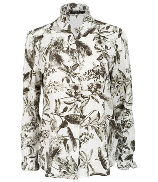 Rebelz Collection Blouse wit/groen Marie