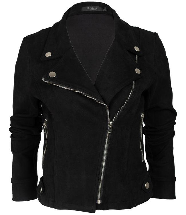 Rebelz Collection Biker jacket zwart Lisa