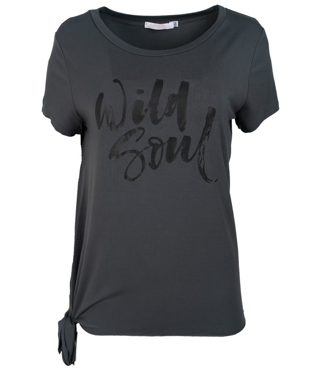 Gemma Ricceri Shirt antraciet Wild soul