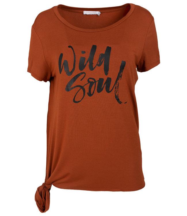 Gemma Ricceri Shirt roestbruin Wild soul