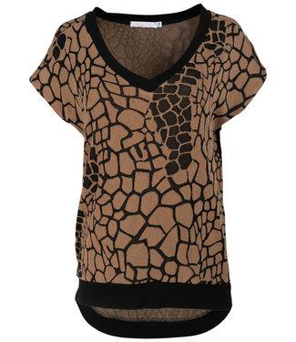 Gemma Ricceri Shirt camel print Jolien