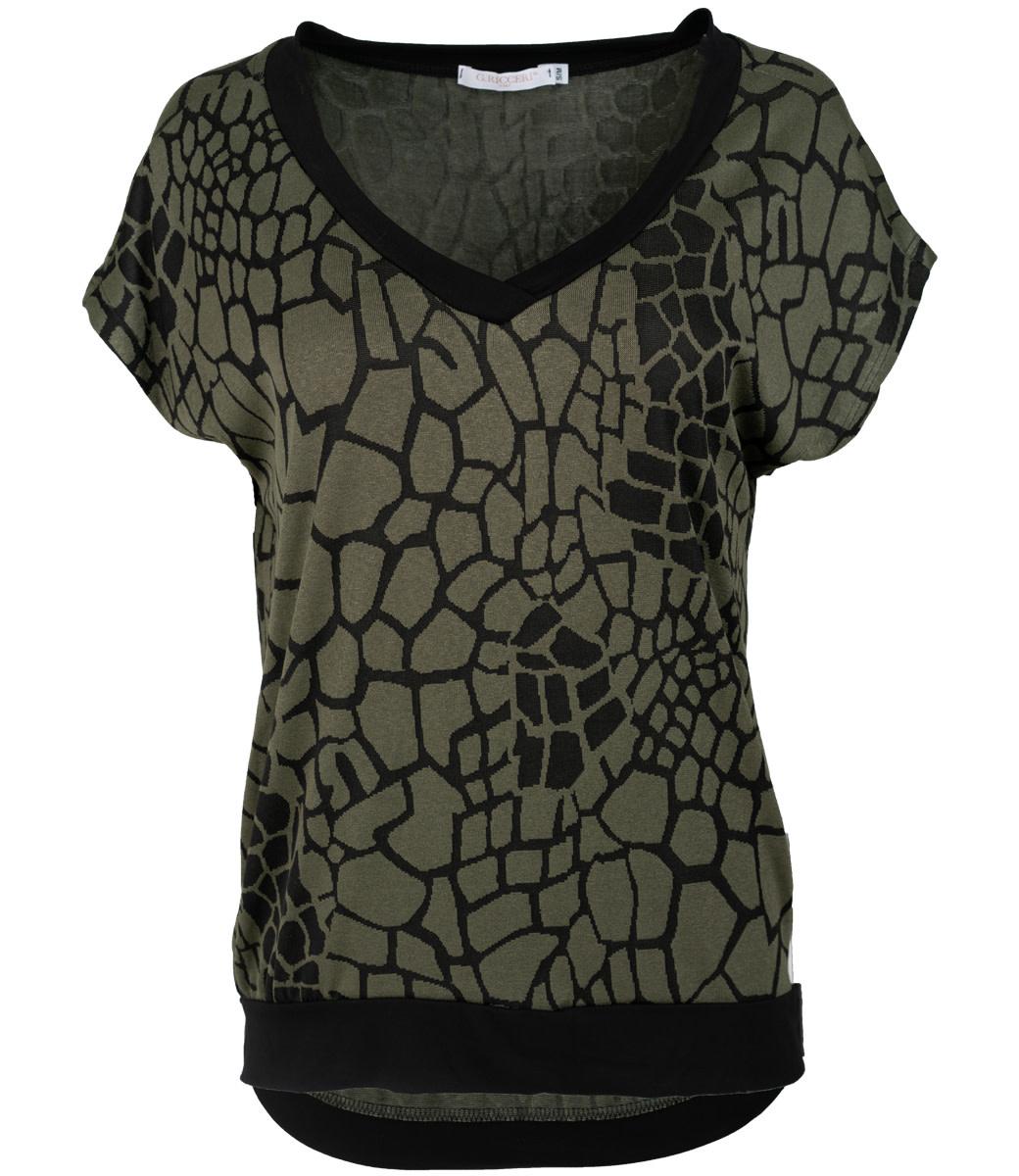 Gemma Ricceri Shirt groen print Jolien