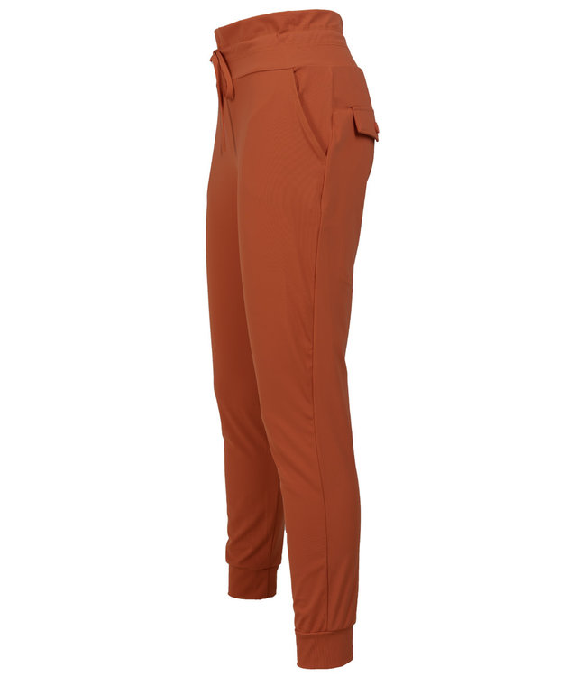 Rebelz Collection Broek donker oranje travelstof Lil