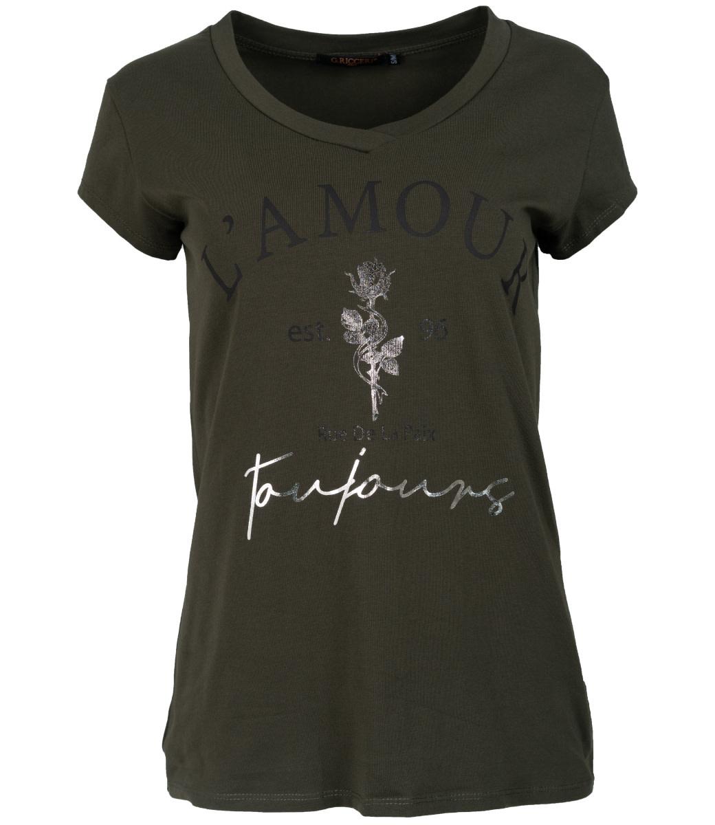 Gemma Ricceri Shirt groen/zwart L'amour