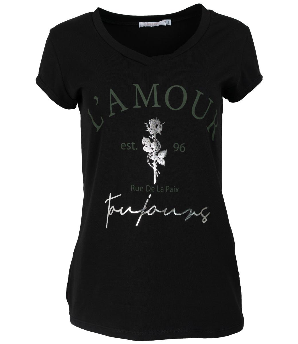 Gemma Ricceri Shirt zwart/groen L'amour