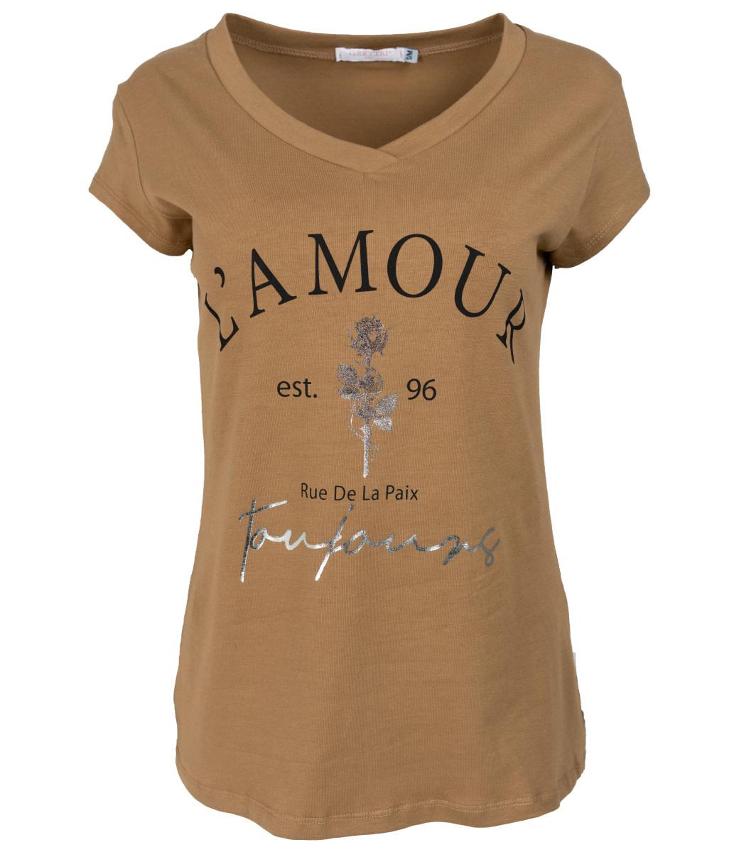 Gemma Ricceri Shirt camel/zwart L'amour