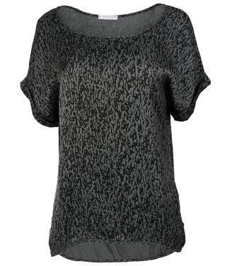 Gemma Ricceri Shirt antraciet print Silk touch