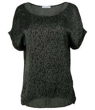 Gemma Ricceri Shirt groen print silk touch